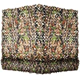 Yeacool Camouflage Netting,Military Camo Tarp Mesh Net,Great for Party Decoration,Duck Hunting Blind,Car Cover(Camo Bionic Leavess 16.4ftx5ft)