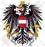 ÖSTERREICH Österreichisches Wappen Abzeichen Wappen Osterreich 95mm Auto & Motorrad Aufkleber, Vinyl Sticker