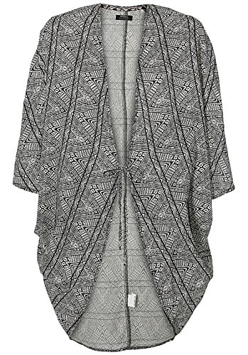 O'NEILL Beach Cover Up Cardigan Streetwear T-Shirt & Chemisier S/M Black AOP W/White