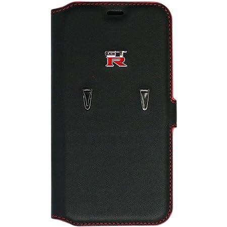 エアージェイ 日産 GT-R 公式ライセンス品iPhoneXS iPhoneXケース 本革 手帳型 NR-PX-B1 BK ブラック