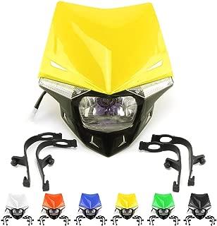 Universal Motorcycle LED Headlight Head Lamp Light Kit S2 12V 35W For HONDA YAMAHA KAWASAKI SUZUKI CR CRF XR YZ YZF WR KX KXF KLX RM RMZ 125 250 450 ATV Pit Dirt Bike Yellow