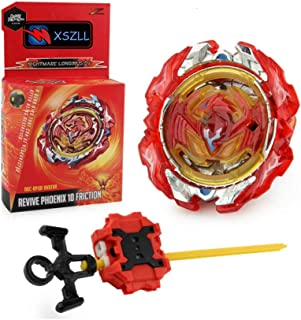 XSZLL B-117 Battling Legends Burst Metal Fusion Revive Phoenix Friction Nightmare Longinus.Ds Spin Gaming Top with Launcher