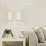 Papel tapiz no tejido simple estudio dormitorio sala de estar sofá fondo vegano fondo de pantalla completo 0.53m * 10m beige