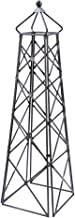 Achla Designs OBL-25 Lattice Wrought Iron Garden Obelisk Trellis, Graphite