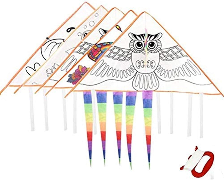 Warmshine 4 Pack DIY Cartoon Kite Graffiti Coloring Han Painting Max 54% OFF Popular popular