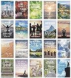 Edition Seidel Set 20 Postkarten mit Sprüchen - Karten mit Spruch - Geschenkidee - Dekoidee - Liebe, Freundschaft, Leben, Motivation, lustig – Postcrossing - Geburtstagskarten