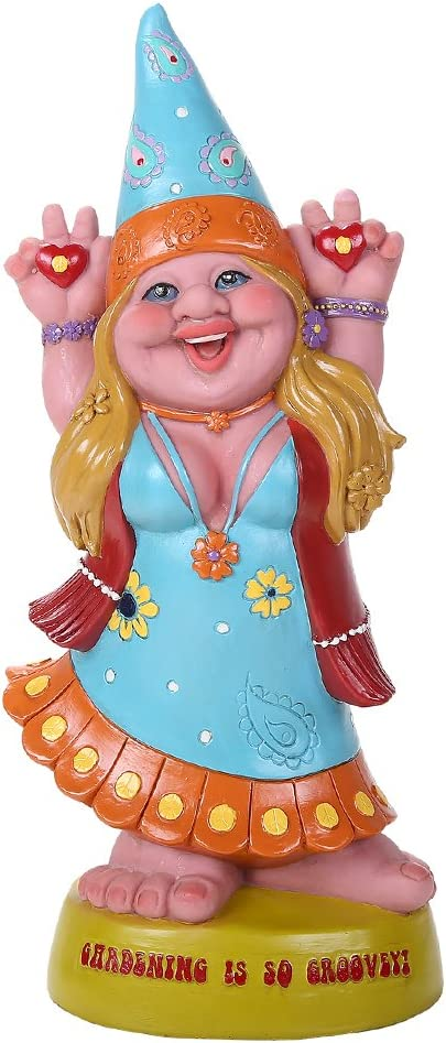 Max 67% OFF Pacific Giftware Hippie Lady Gnome G Sale Groovey is Gardening Garden