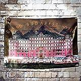 Yu Xin Grand Budapest Hotel Classic Filmplakat Flagge Banner Tapisserie Für Wohnzimmer Dekor Tagesdecke Wandbehang Wandteppich Stoffe