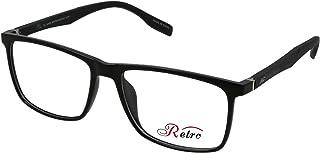 RETRO Unisex-adult Spectacle Frames Rectangular 3016 S.Black/Dark Grey