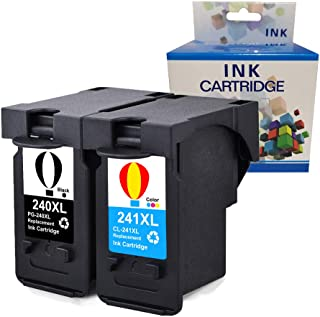 A1INK Refilld Ink Cartridge Replacement for Canon PG-240XL 240 XL CL-241XL 241 XL Used for Canon PIXMA TS5120 MG3620 MG3520 MG3200 MG2120 MG3220 MG2220 MX472 MX479 MX432 MX452 MX392 MX522 (BK & CL)
