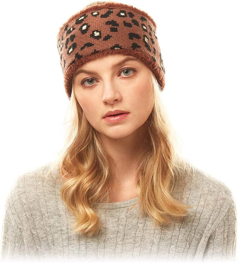 by you Women Winter Soft Sherpa Fleece Twisted Knot Headwrap Headband Ear Warmer