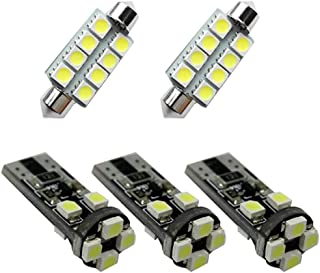MyGone for Skoda Octavia RS Fabia Rapid Dome Interior Led Lights Bulbs Kit Accessories Ultra Bright White 5Pcs