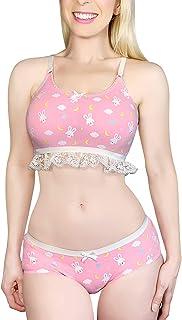 Littleforbig Lacy Trim Women Nightwear Strap Sleepwear Cami Top Shorts Lingerie Bralette Loungewear Set - I Choose You