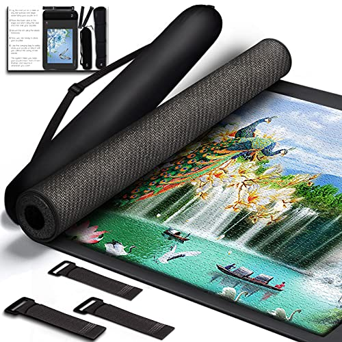 YUPYY Jigsaw Puzzle Mat Roll Up for 1500 Pieces Puzzles | Table, Board Mat, Saver for Storage Puzzle