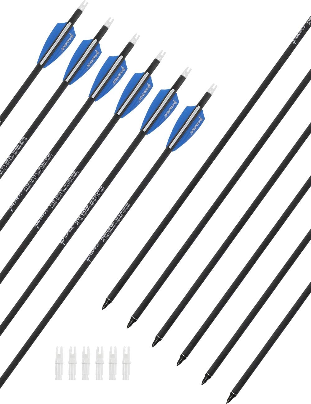 PANDARUS Great interest Pure Carbon Arrows 32 for 30 Hunting Inch Many popular brands