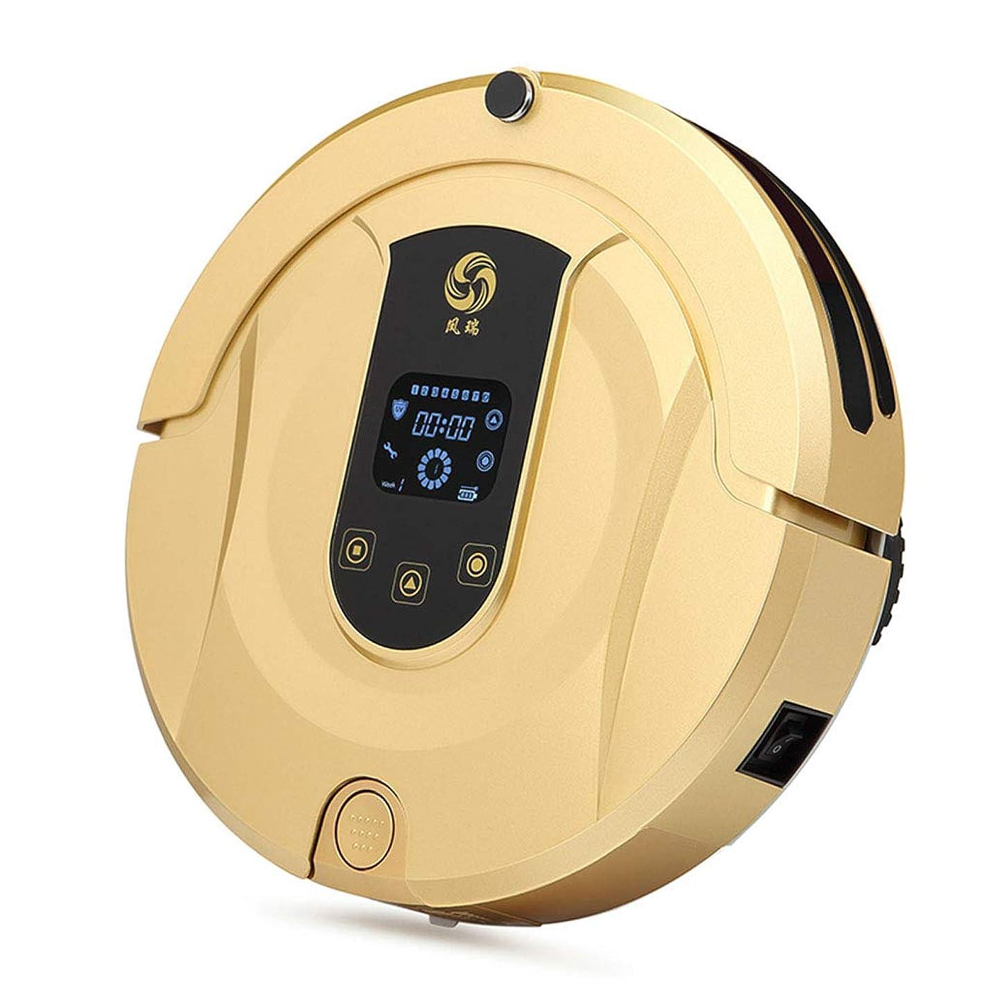 ええラフ睡眠爬虫類調整可能 ロボット掃除機アプリ制御スマート自己充電ロボット掃除機、広葉樹床カーペットタイルペットヘアケア用自動掃除機 リラックス, Gold