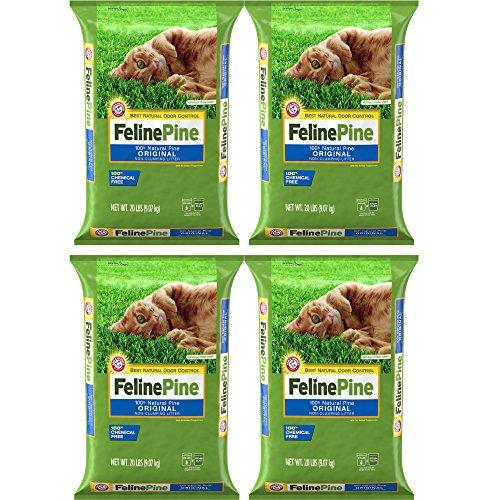 ..Feline Pine.. Original Litter, 20 Lbs, 4-Pack
