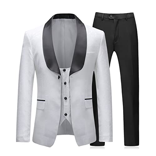 jacket+pants+tie Cheap Sale High Quality Gray Stripe Mens Suits Groom Tuxedos Groomsmen Wedding Party Dinner Best Man Suits W:39 Attractive And Durable