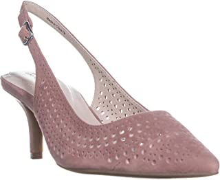 Alfani A35 Brezee Perforated Pointed Toe Heels, Dusty Mauve, 9.5 US
