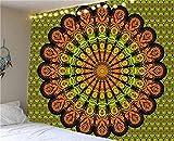 Tapiz de mandala indio, manta montada en la pared, tienda de campaña, colchón de viaje, tapiz bohemio A7, 180x200cm