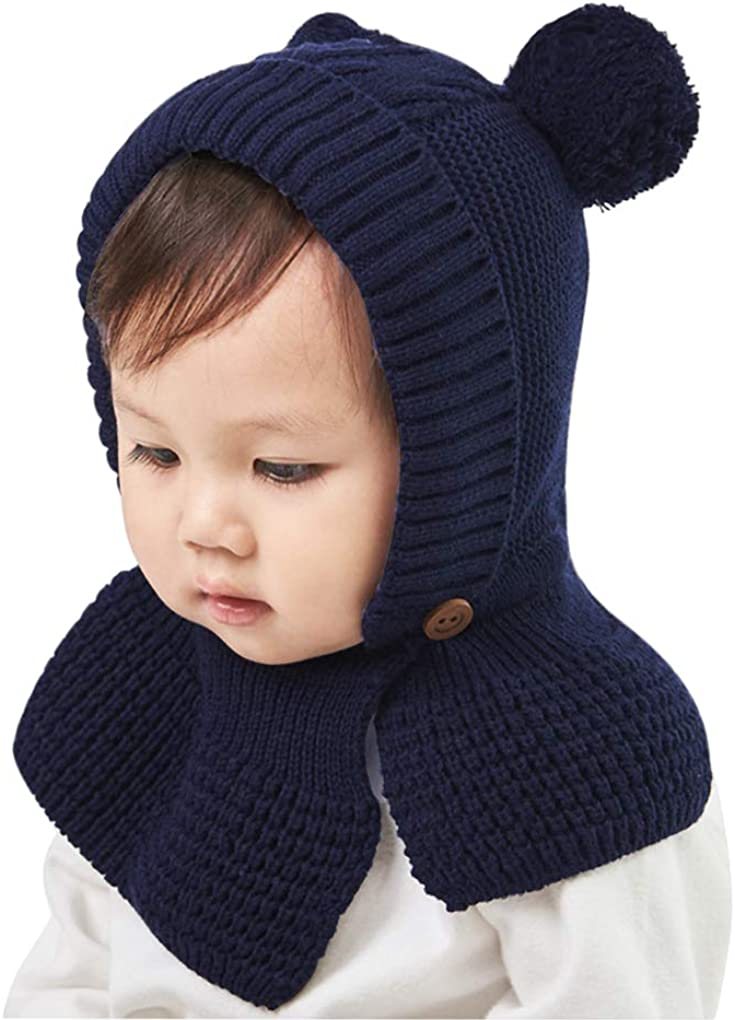 IPENNY Kids Toddlers Warm Knitted Beanie Ranking TOP11 Hat Neck All items in the store Warmer with Fl