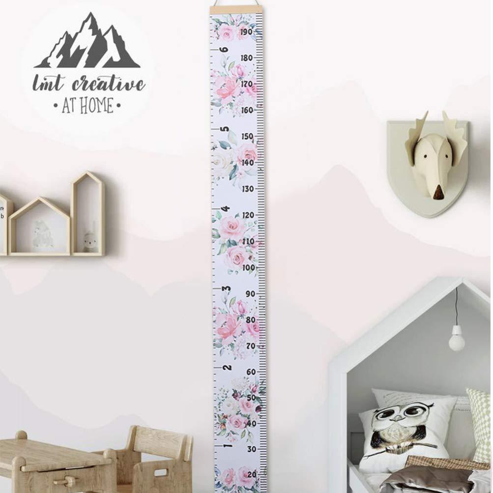 STOBOK Baby Growth Chart Deer Height Measurement Ruler Wall Decoration for Kids Nursery Room