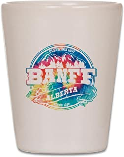 CafePress - Banff Old Circle - Shot Glass, Unique and Funny Shot Glass