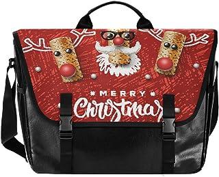 Bolsa de cartero de lona de corcho de color rojo, unisex, de 15.37 pulgadas, estilo retro, para negocios, bolso de hombro,...