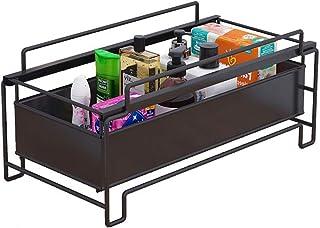 LPing Organisateur sous évier,Organisateur d'armoire empilable avec tiroir Coulissant pour Cuisine et Salle de Bain