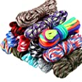 13 Colors 10 Feet Paracord Cord 550 Multifunction Paracord Ropes Tent Camping Outdoor Rope with Buckles Keychain Key Rings, Paracord Combo Crafting Kits for Making Bracelet, Lanyards, Dog Collar