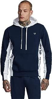 True Religion Men's Side Logo Paneled Hoodie Sweatshirt