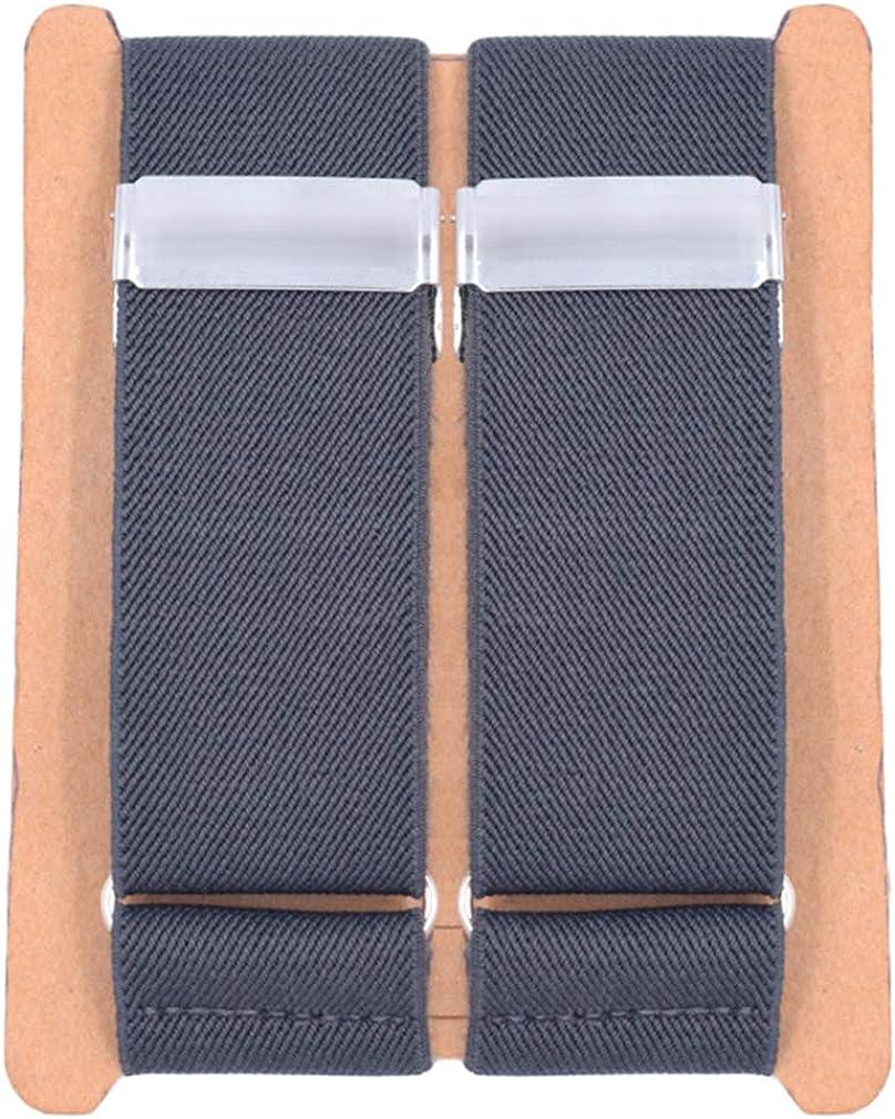 SupSuspen Mens 2PCS Solid Color Shirt Garters Sleeve Holders Armbands 1.4''Width