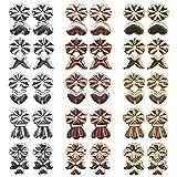 Respaldos Levantadores de Pendientes, Xiuyer 15 Pares Retro Earring Backs Lifters Creatividad Levantadores de Pendiente Ajustables Hipoalergénicos para Apoyar Orejas Caídas (Dorado,Plata,Oro Rosa)