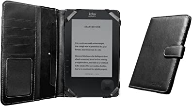 Navitech Black Faux Leather Case Cover Compatible with The Compatible with The Kobo Wireless e-Reader Device