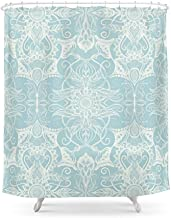 fengyijiating Floral Pattern in Duck Egg Blue & Cream Shower Curtain 60