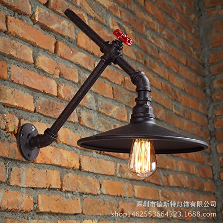 FDH Eiserne Wand Lampen Retro iron pipe Wandleuchten, Schwarz