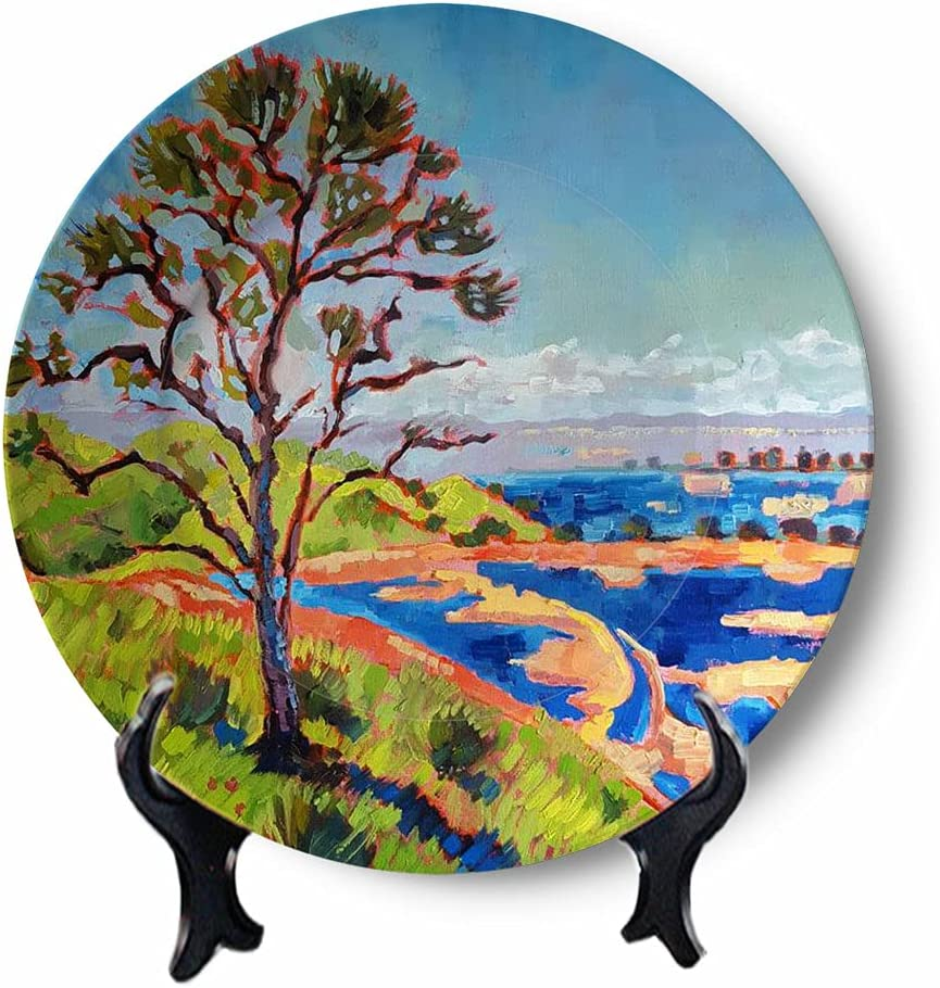 Oil Painting Don't miss the campaign Decorative Plates for Handmade Ceramic Display Wall unisex