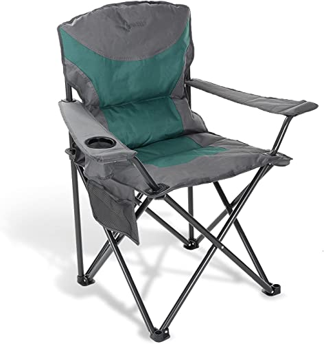 popular ARROWHEAD OUTDOOR Portable Folding Camping Quad Chair w/Added online sale Ultra-Comfortable Padding, Cup-Holder, lowest Heavy-Duty Carrying Bag, Padded Armrests, Supports up to 330lbs, USA-Based Support sale
