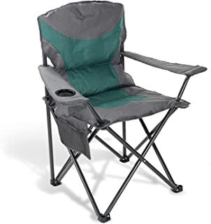 ARROWHEAD OUTDOOR Portable Folding Camping Quad Chair w/Added Ultra-Comfortable Padding, Cup-Holder, Heavy-Duty Carrying B...