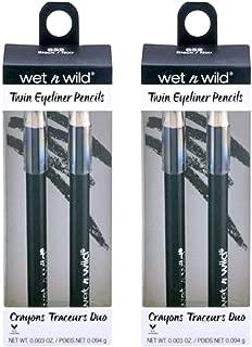 Wet N Wild Eyeliner Pencils, Black, 0.003 oz / 0.094 g (Pack of 2)