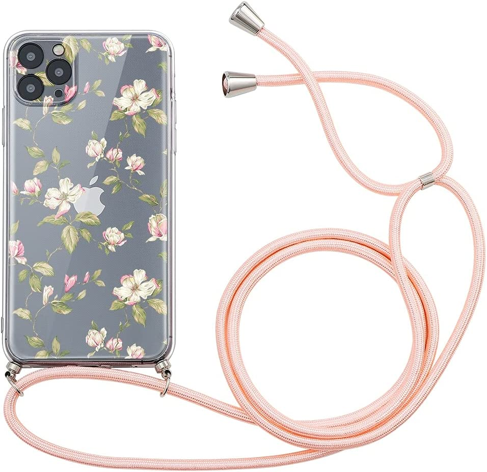Yoedge Crossbody Case for Huawei P8 Lite / P9 Lite 2017, Transparent Neck Cord Phone Case with Adjustable Lanyard Strap, TPU Silicone Cover Compatible with Huawei P9 Lite 2017 [5.2