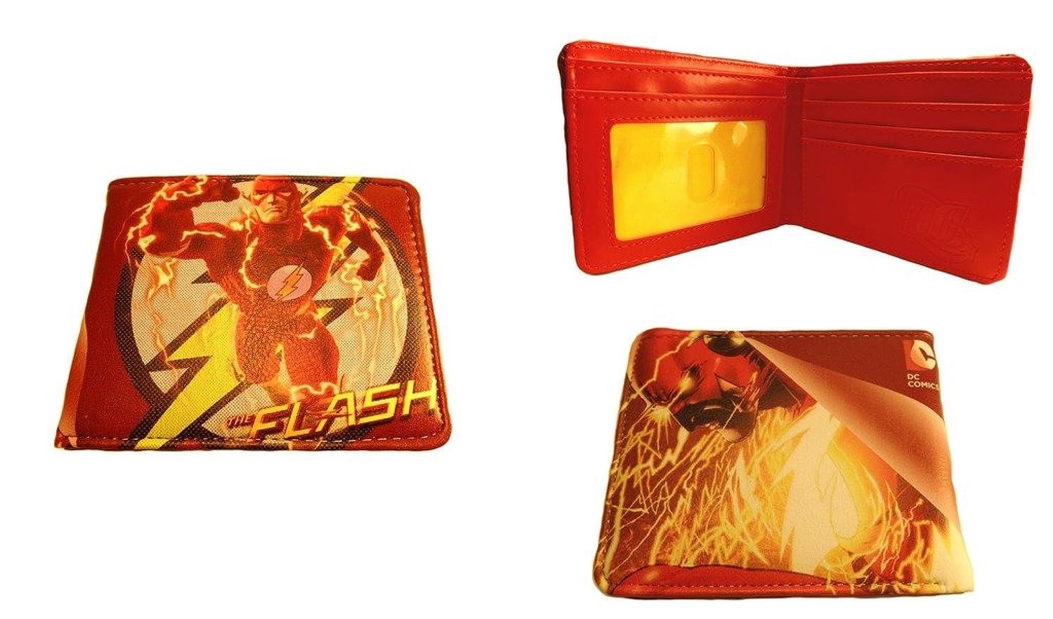 すぐにリング神学校DC Comics The Flash Running二つ折りメンズBoys Wallet w /ギフトボックスby Athena