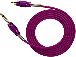 Silicone Soft RCA Connect Cord, Tattoo Machine Power Supply Cable Tattoo Machine Adapter Cable 1.8m(Purple)
