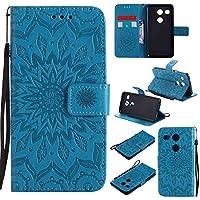 Guran® Funda de Cuero para LG Nexus 5X 5.2 Smartphone Función de Soporte con Ranura para Tarjetas Flip Case Cover-Azul