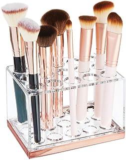 mDesign rangement maquillage pratique – boîte à maquillage déco pour mascara et rouge à lèvres – présentoir make up à 15 c...