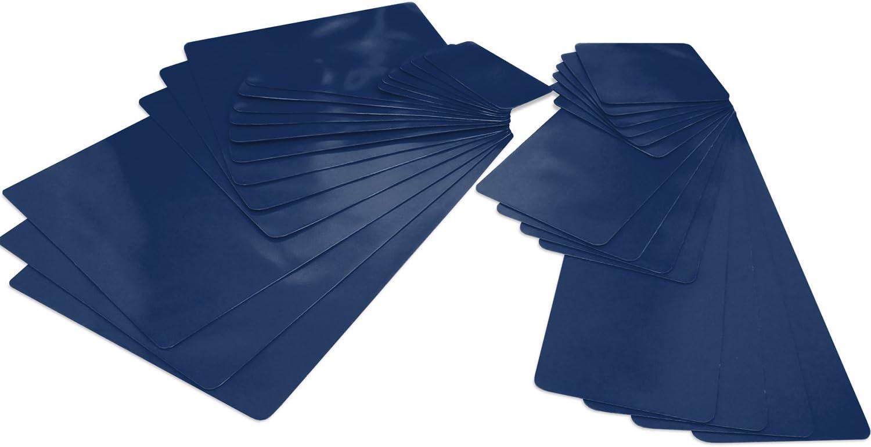 Selbstklebendes Planenreparatur Pflaster Set 32 Teilig In Vielen Farben Für Zelte Planen Uvm Ultramarinblau Ral 5002 Auto