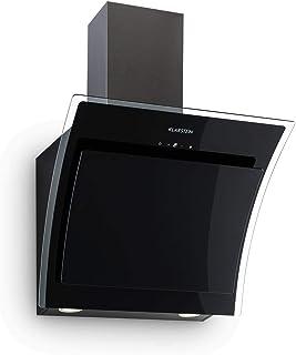 KLARSTEIN Sabia - Hotte aspirante, 600m³/h, 3 vitesses Filtres à graisse, Eclairage LED, Verre de sécurité, Kit de montage...