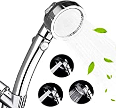 High Pressure Shower Head, 3-Settings Handheld Showerhead with ON/Off Full Shutoff Push Button and Switch to Control Flow,...