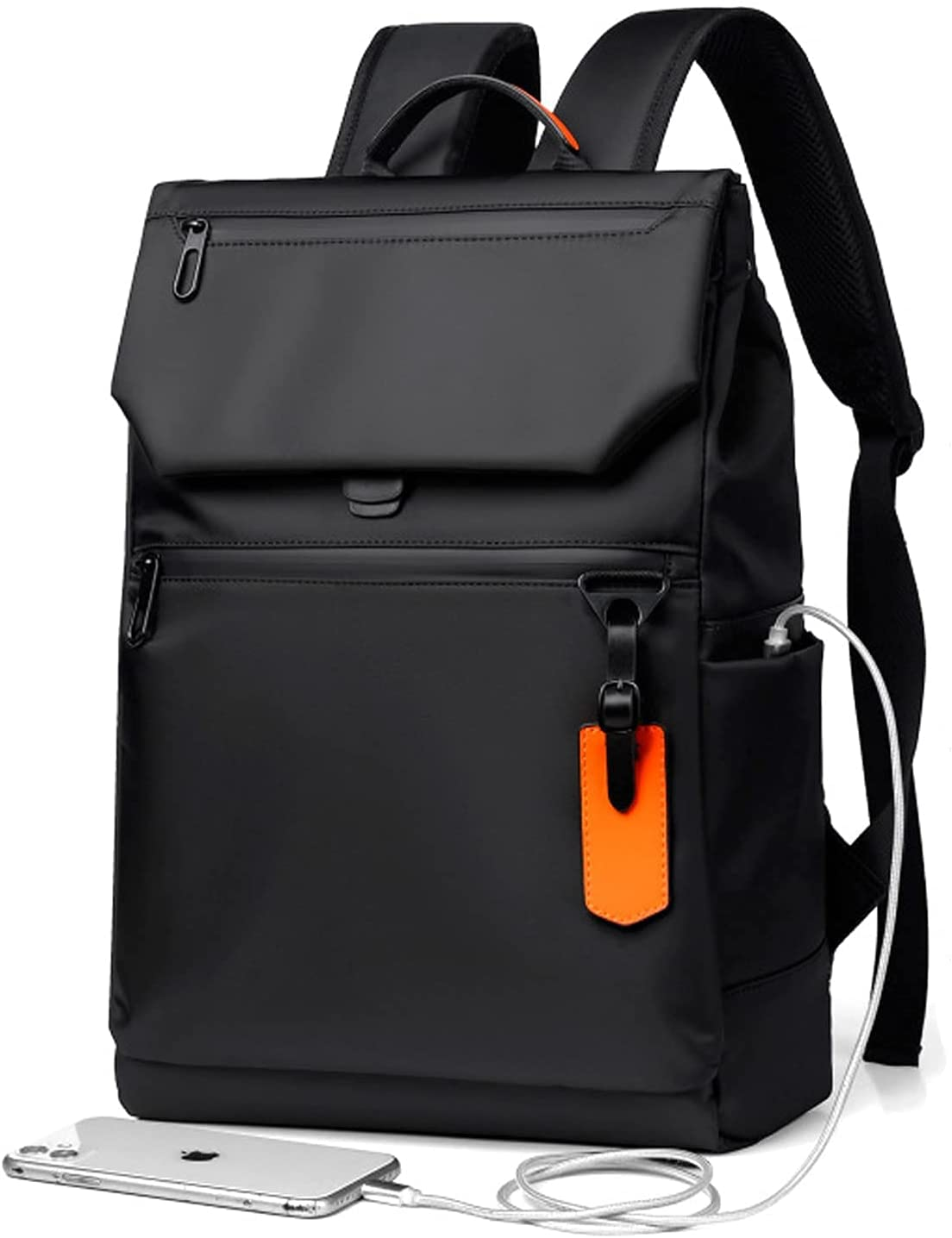 AiPool Travel Laptop Backpack Business Men's Casual Backback Large Capacity Oxford Cloth School Bag (Black) : Electronics
