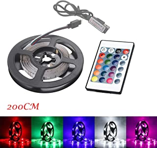 Little Story 200CM USB LED Strip Light TV Back Lamp 2835RGB Colour Changing+Remote Control